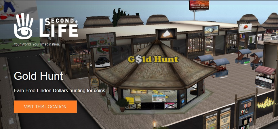 Gold Hunt Second Life Pages